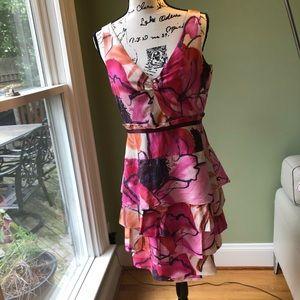 ANTHRO Moulinette Soeurs Floral Silk Dress